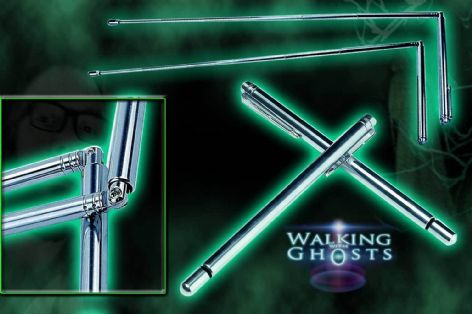 Portable Telescopic Expandable Folding Divining Rods for Paranormal Ghost Hunt